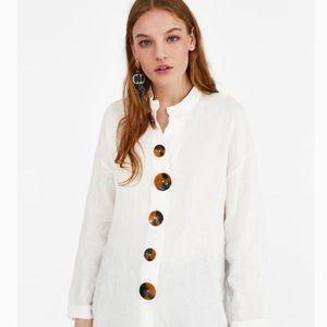 Zara linen tunic top